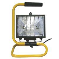 reflektor halogenový, s držákem, kabel 1,5 m,  500W, ~ 230 V, standard