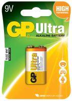 baterie GP Ultra Alkaline, 6LF22, plochá, blistr 1 ks,  9 V