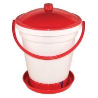TOPTRADE napáječka plastová, kbelíková, s plovákem, pro kuřata, 18l