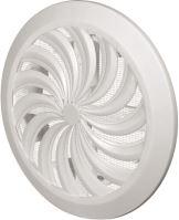 REFLEX mřížka větrací, plastová, bílá, kulatá, vějířové žebrování se síťkou, O 135 / 100 mm
