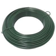 TOPTRADE drát napínací, poplastovaný, zelený, O 3,4 mm / 52 m