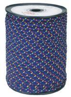 šňůra pletená, PES, s jádrem, O 7mm x 100 m, Lanex
