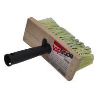 TOPTRADE štětka zednická, dřevěná, hranatá, s plastovou rukojetí