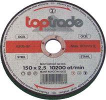 TOPTRADE kotouč brusný, na kov, 115 x 22,2 x 6,5 mm, standard