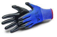 rukavice ALLSTAR, s nitrilovým potahem a úpletem, velikost 10
