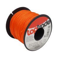 TOPTRADE šňůra zednická PE, O 1,7 mm / 50 m, oranžová