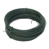 TOPTRADE drát vázací, poplastovaný, zelený, O 0,65 (0,55) mm / 30 m