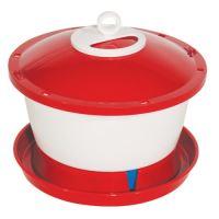 TOPTRADE napáječka plastová, kbelíková, s plovákem, pro kuřata, 6l
