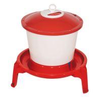 TOPTRADE napáječka plastová, kbelíková, na podstavci, pro drůbež, 9 l