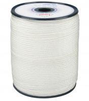 šňůra pletená, PA, s jádrem,  O 4 mm x 200 m, Lanex
