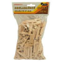 klínky dřevěné, obkladačské, balení 250 ks, 55 x 8 x 10 – 0 mm