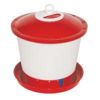 TOPTRADE napáječka plastová, kbelíková, s plovákem, pro kuřata, 9l
