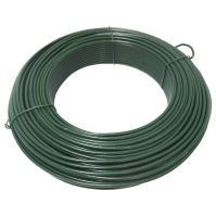TOPTRADE drát napínací, poplastovaný, zelený, O 3,4 mm / 26 m