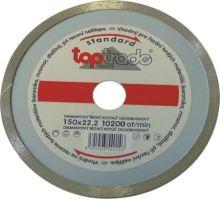 TOPTRADE kotouč diamantový, celoobvodový, 230 x 22.2 x 7 mm, standard