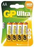 baterie GP Ultra Alkaline, LR6, tužka AA, blistr, 4 ks,  1,5 V