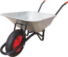 TOPTRADE kolečko stavební, tažená korba pozink, nafukovací kolo, 60L