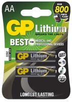 baterie GP lithium, FR6, tužka AA, blistr 2 ks, 1,8 V