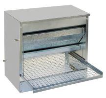 TOPTRADE krmítko pozinkované, nášlapné, automatické, pro slepice, 10 kg