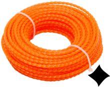 TOPTRADE struna do sekačky, plastová, průřez spirála, 2 mm x 15 m
