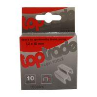 TOPTRADE spona do sponkovačky, pozinkovaná, široká, balení 1000 ks, 1,2 x 12 mm
