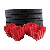 ekobox plastový, sada 28 boxů, 2 panely, 800 x 195 x 400 mm