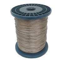 TOPTRADE lano nerezové, na cívce, 7 x 7 drátů, O 1 mm x 300 m