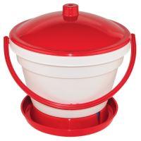 TOPTRADE napáječka plastová, kbelíková, s plovákem, pro kuřata, 12 l