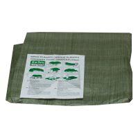 TOPTRADE plachta krycí, zelená, s kovovými oky, 10 x 15 m, standard
