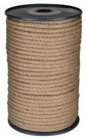 lano stáčené, přírodní s polypropylénem, bez jádra, J-PP, O 10 mm x 100 m, Lanex
