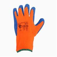 rukavice YES Winter, s PU dlaní a úpletem, velikost 10