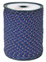 šňůra pletená, PES, s jádrem, O 6 mm x 100 m, Lanex