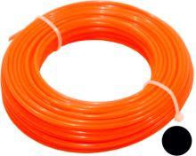 TOPTRADE struna do sekačky, plastová, průřez kulatý, 2,4 mm x 15 m