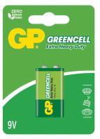 baterie GP Greencell, zinko – chloridová  6F22, plochá, blistr 1 ks, 9 V