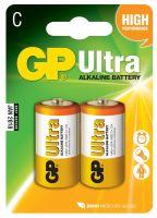 baterie GP Ultra Alkaline, LR14,  malé mono C, blistr 2 ks, 1,5 V