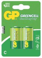 baterie GP Greencell, zinko – chloridová, R14, malé mono C, blistr 2 ks, 1,5 V
