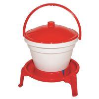 TOPTRADE napáječka plastová, kbelíková, na podstavci, pro drůbež, 12l