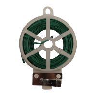 TOPTRADE drát ocelový, poplastovaný, zelený, planžetové nůžky v plastovém pouzdře,  0,4 mm x 30 m